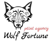 Wolf Fortune Print Logaster logo
