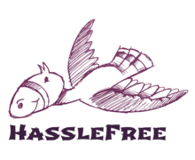 Hassle Free Logaster logo