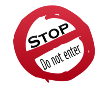 Do Not Enter Stop Logaster Logo