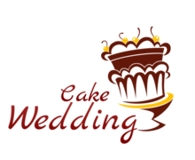 Cake Wedding Logaster Logo